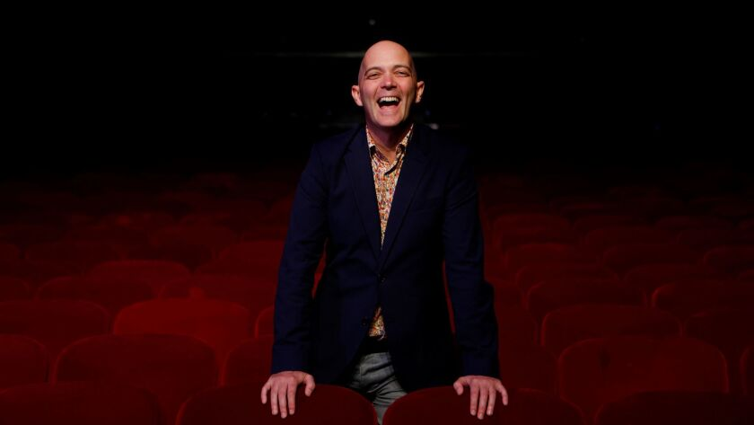 """Performance artist and Pulitzer Prize finalist Taylor Mac, photographed at the Theatre at Ace Hotel, discussed how his """"A 24-Decade History of Popular Music"""" will be staged for its L.A. run."""