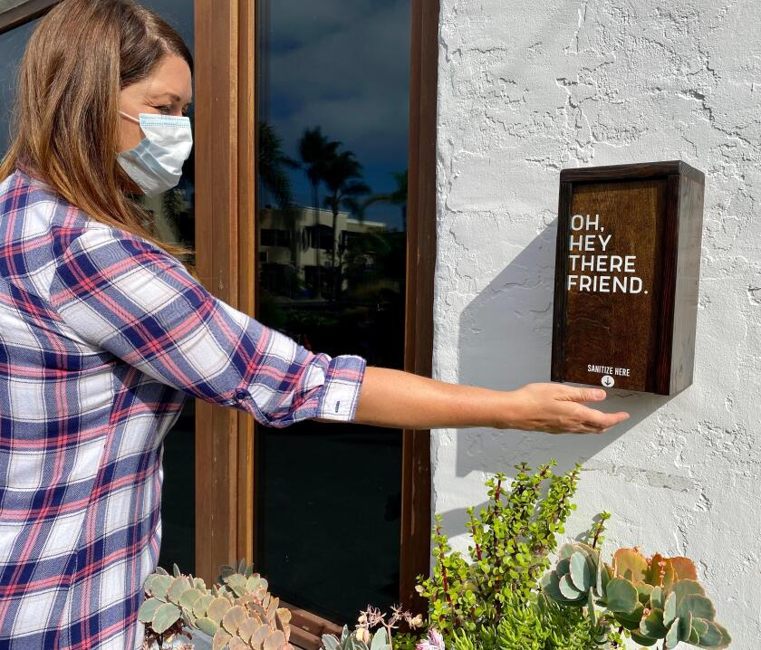 Three local moms recently launched a business that produces decorative hand sanitizer covers.