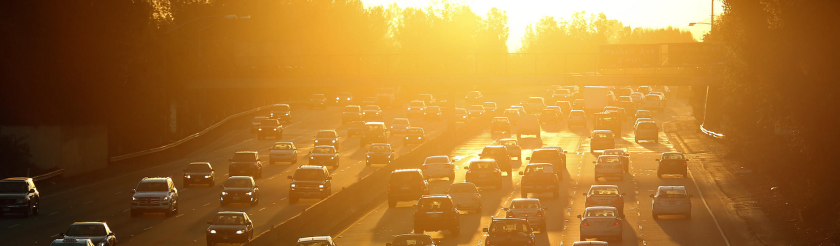 Ventura Freeway at White Oak Avenue in the heat.