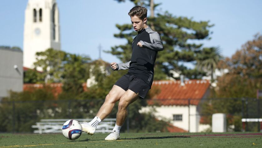Jensen Jabara, who played soccer at Bishop's and now attends the IMG Academy in Florida, will play a