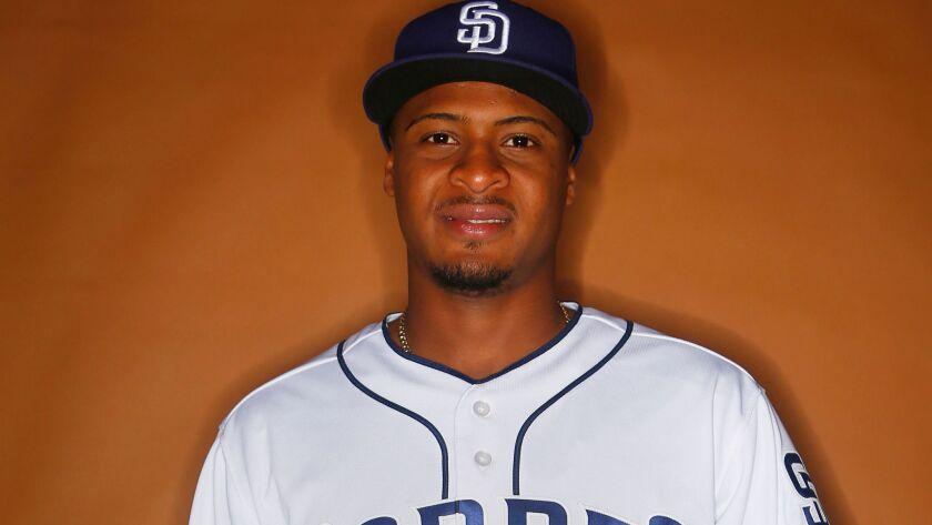 San Diego Padres pitcher Luis Perdomo.