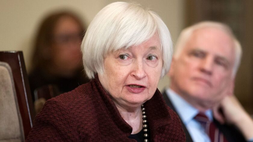 """""""These banks must bear the costs their failure would impose on the financial system and the economy,"""" Federal Reserve chief Janet Yellen said."""