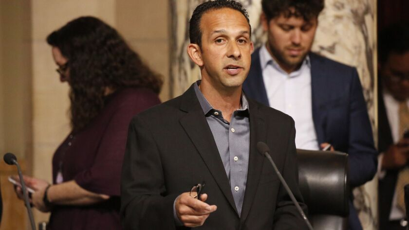 LOS ANGELES, CA – APRIL 17, 2018: Los Angeles City Council member Mitchell Englander, representing