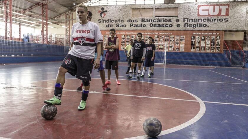 São Paulo, Brazil. Goal kicking training.