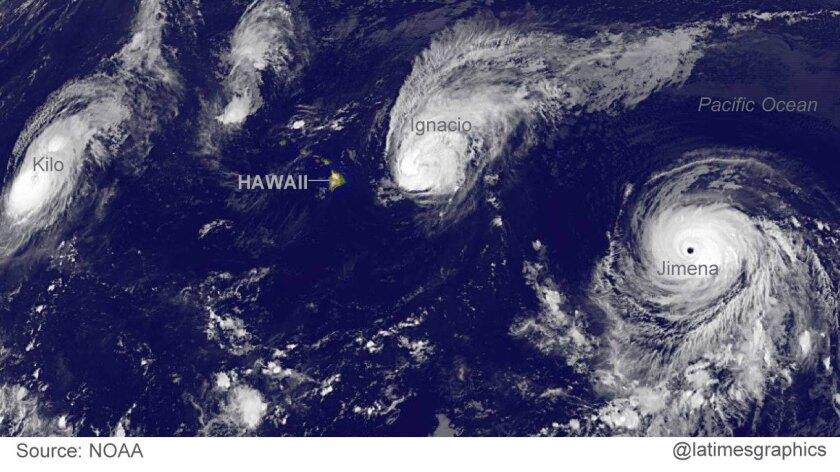 Three Category 4 hurricanes