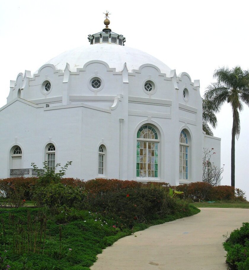 The temple Ecclesia, or Healing Temple, sits on the mesa known as Mount Ecclesia overlooking Oceanside Airport and the old drive-in movie theater.
