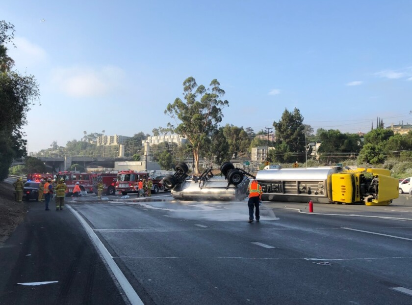 5 Freeway near Griffith Park fully reopens after tipped