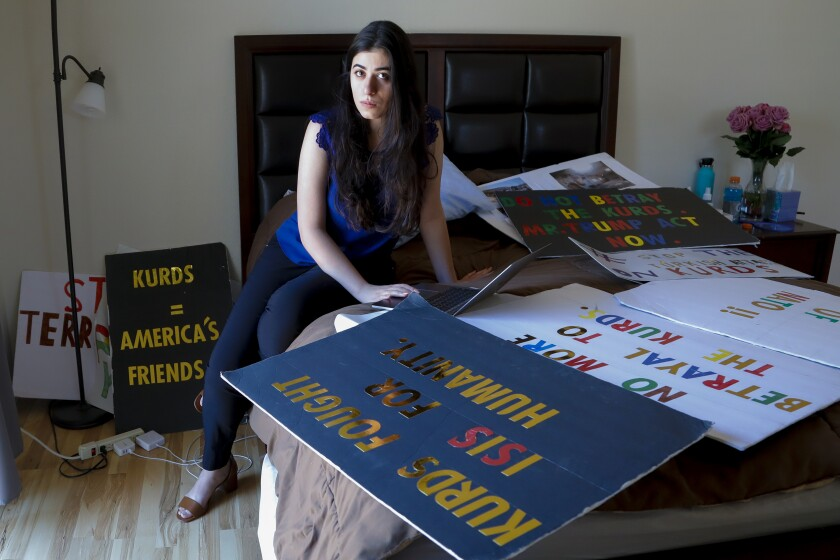 Sherin Zadah, 24 graduated from Claremont McKenna College in 2017, and learned from her dad about activism.