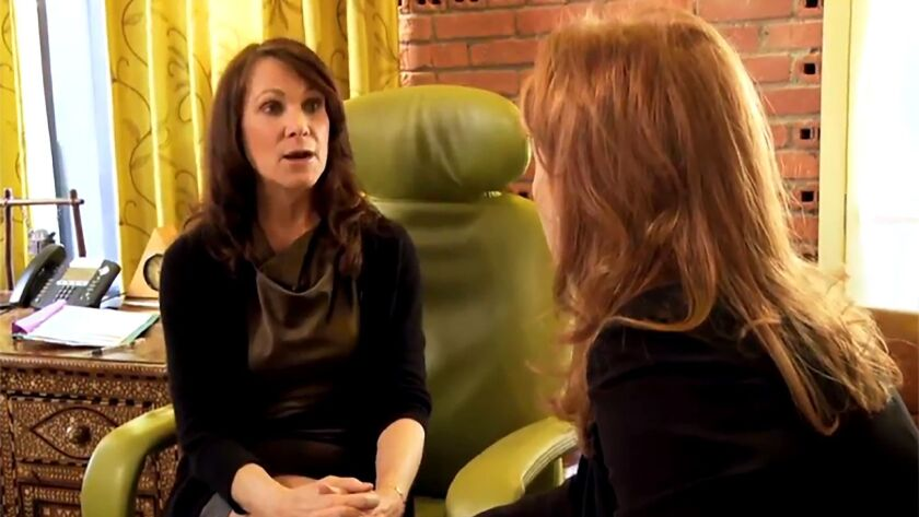 Dr. Prudence Hall, left, is interviewed for a program on the Oprah Winfrey Network.