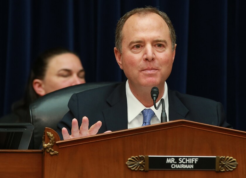 Chairman Adam Schiff questioned Joseph Maguire, acting director of national intelligence,  at a House committee hearing on Thursday that focused on the handling of a whistleblower complaint.
