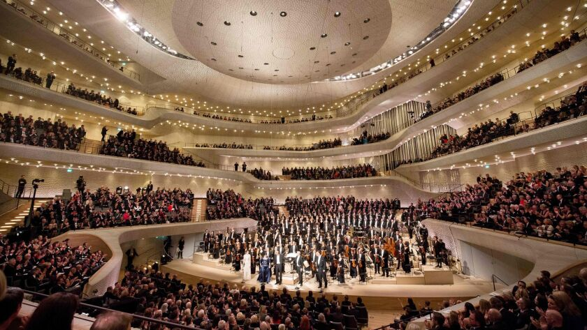 Conductor Thomas Hengelbrock and the NDR Elbphilharmonie Orchestra at the opening concert of the hall in January.