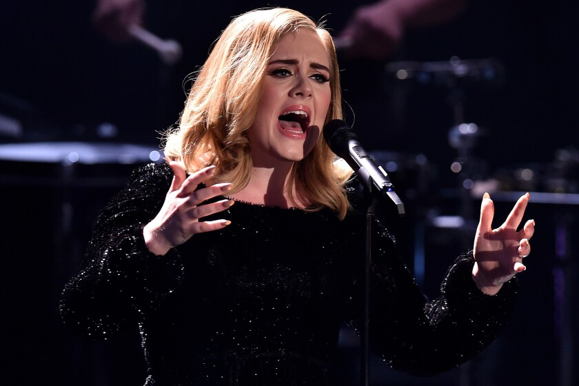 Adele gives listeners what they expect. And that voice ...