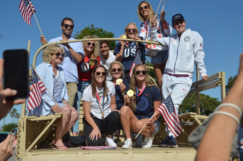 A hometown Olympian parade was held Sunday between the Balboa Pier and American Legion Post.