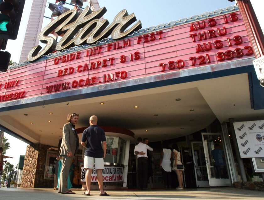 The marquee on Oceanside's historic Star Theatre has been recognized as the largest neon marquee west of the Mississippi.