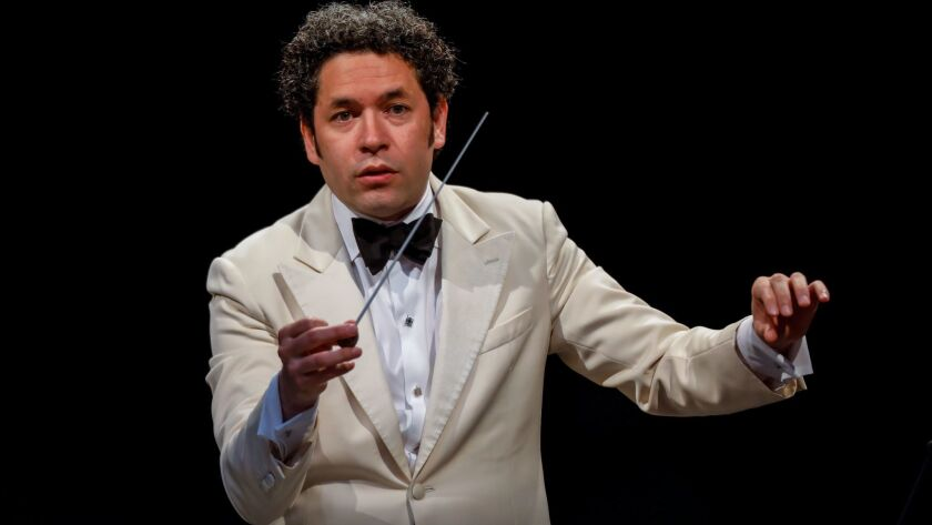 Los Angeles Philharmonic conductor Gustavo Dudamel at the Hollywood Bowl in August.