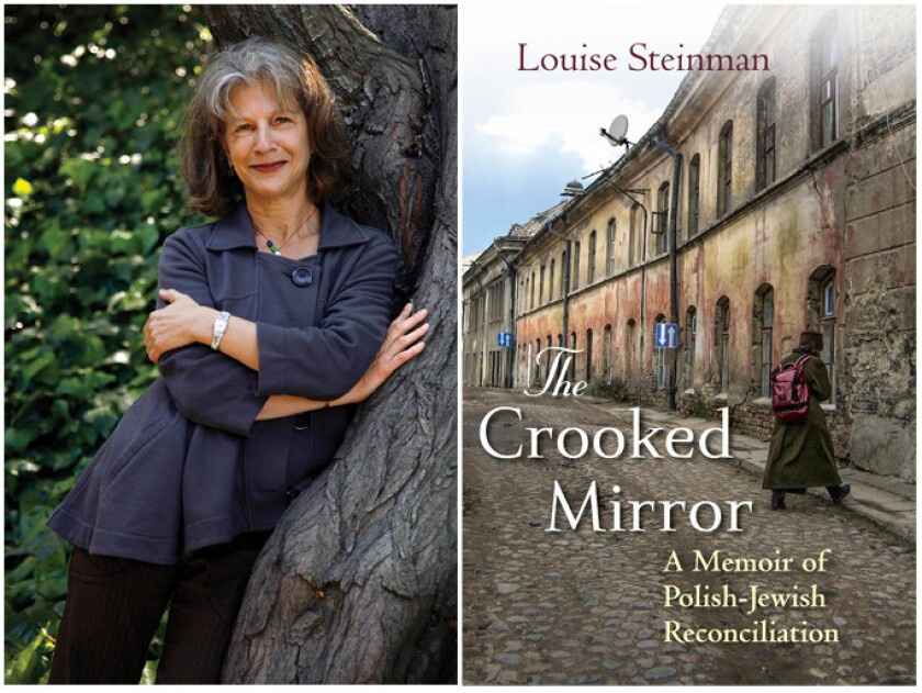 """Author Louise Steinman and the cover of the book """"The Crooked Mirror."""""""