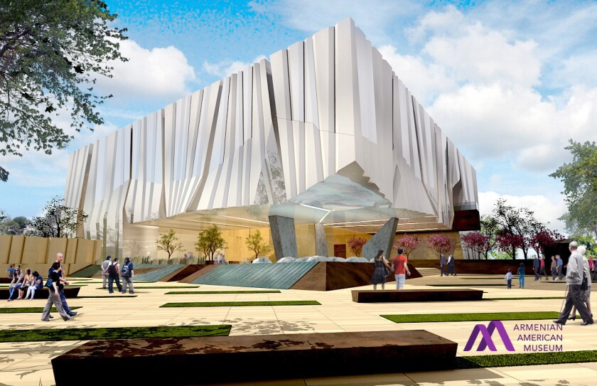 Conceptual design of the Armenian American Museum