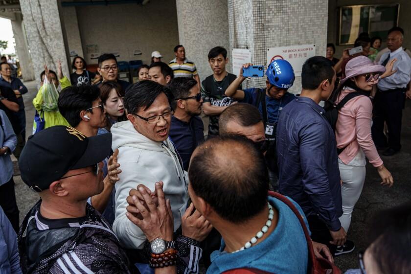 Junius Ho campaigns in Hong Kong