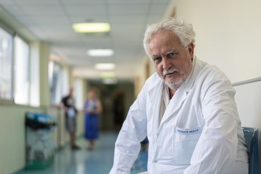 """Dr. Patrizio Mazza, who heads the region's main oncology department at San G. Moscati hospital in Taranto, has a straightforward proposal: """"Close the factory."""""""