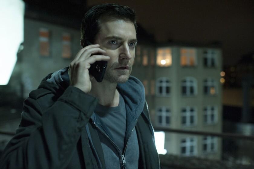 "Richard Armitage stars as Daniel Miller in the new Epix spy thriller ""Berlin Station."""