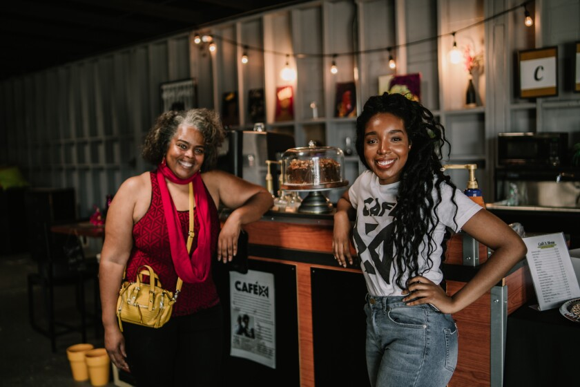 Co-owners of Café X: By Any Beans Necessary, Cynthia Ajani and Khea Pollard, closed their coffee shop in June.