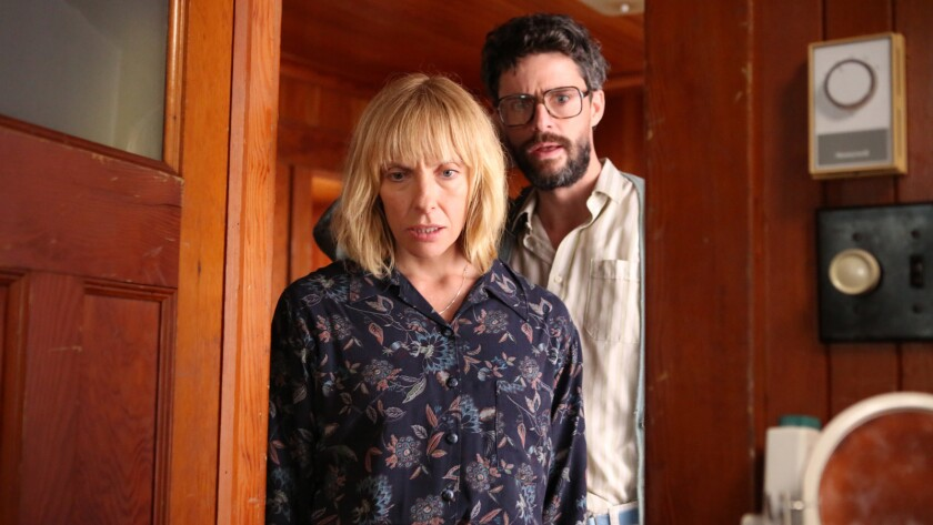 """Toni Collette and Matthew Goode in the movie """"Birthmarked."""""""