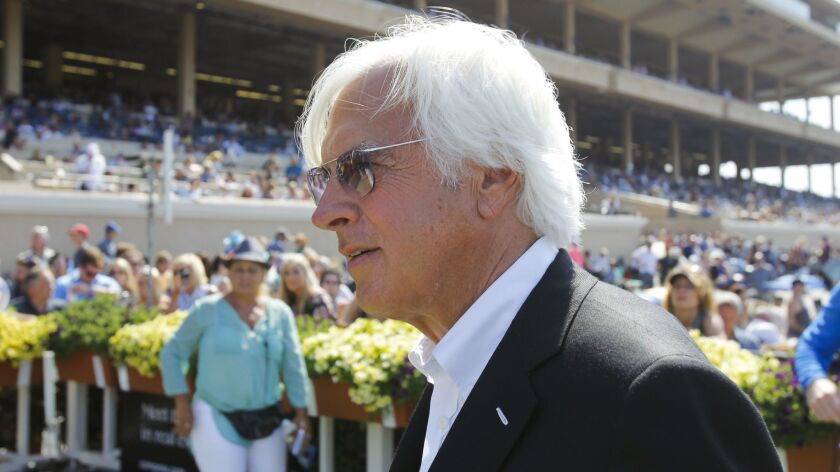 Trainer Bob Baffert will scratch Uncle Chuck and McKinzie from races today at Del Mar.