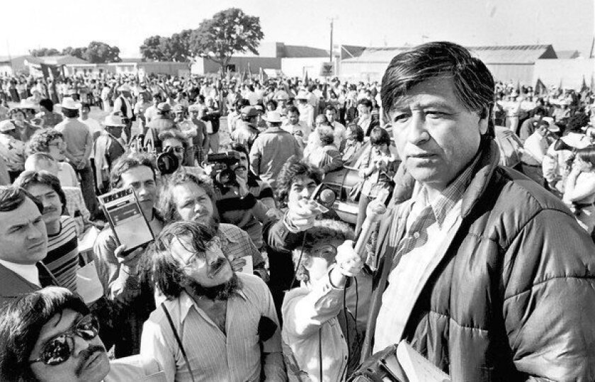 The late United Farm Workers leader Cesar Chavez, shown in 1979.