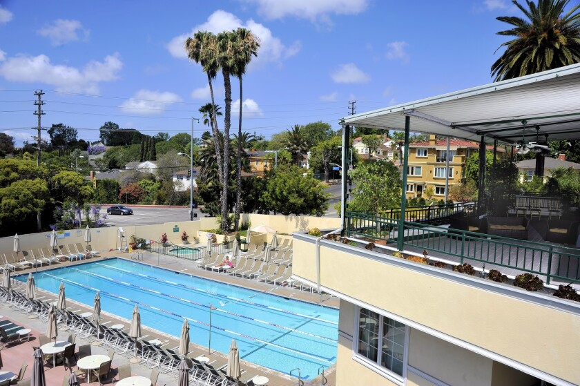A view of Beverly Hills Country Club at 3084 Motor Ave. in Los Angeles.