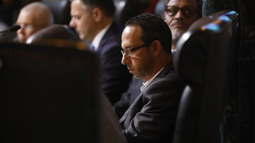 LOS ANGELES, CA - DECEMBER 11, 2018 - - Los Angeles City Councilman Mitchell Englander in council c