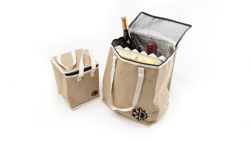 Earthwise insulated jute grocery bag.