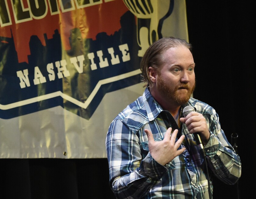 NASHVILLE, TN - MAY 16: Comedian Jon Reep performs during the 2016 Wild West Comedy Festival - Brad Paisley Hosts A Night Of Stand Up Comedy at Zanies on May 16, 2016 in Nashville, Tennessee. (Photo by Rick Diamond/Getty Images)