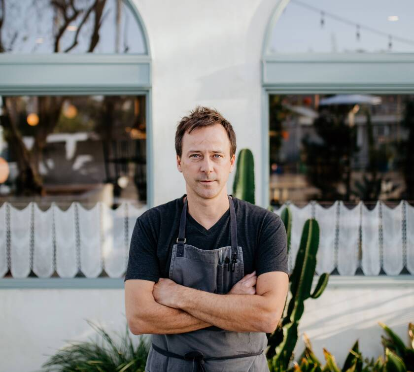 Eric Bost, executive chef at Carlsbad's Michelin-starred 3-year-old restaurant  Jeune et Jolie restaurant