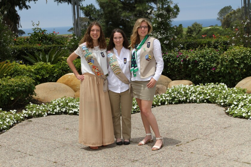Left to right: Alexa Mendes, Lauren Hohmeyer, Karina Martos, and (not pictured) Jenna Levin are new Gold Award Girl Scouts.