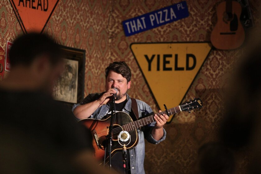 Singer/songwriter Sean Watkins performs at That Pizza Place in Carlsbad. He's a member of the Grammy-winning Nickel Creek.