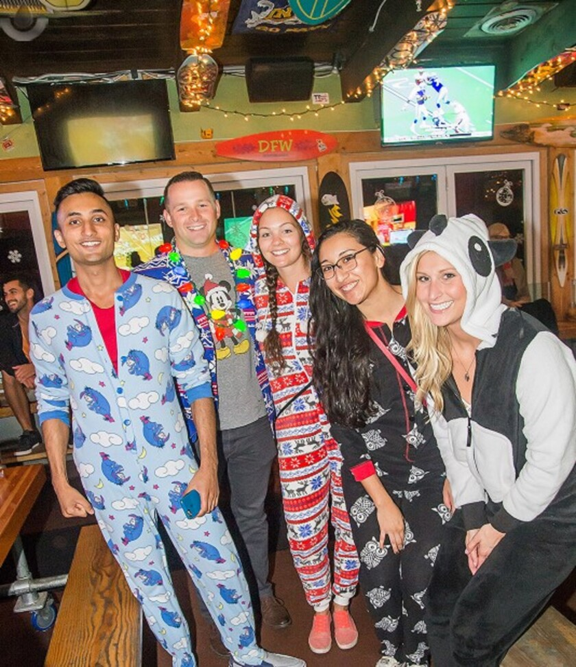 Snuggle up on Christmas Day at the PB Shore Club Onesie Party