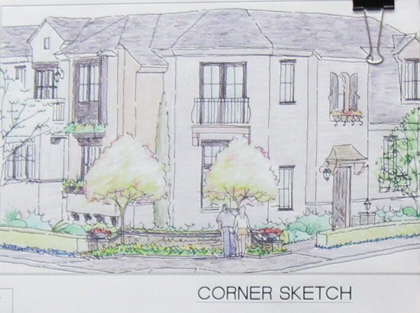 Detail of a landscaped pedestrian space the applicants will establish at the corner of Silver Street and Draper Avenue.