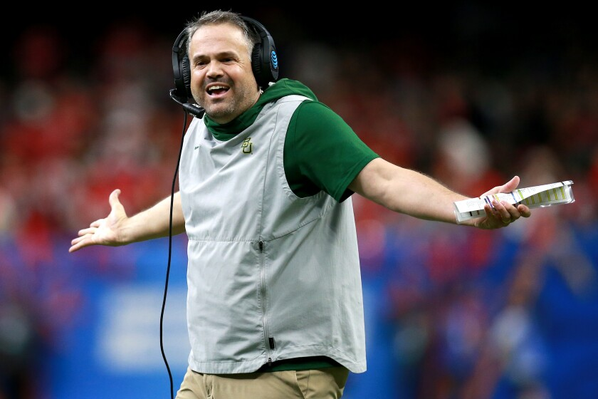 Football coach Matt Rhule.