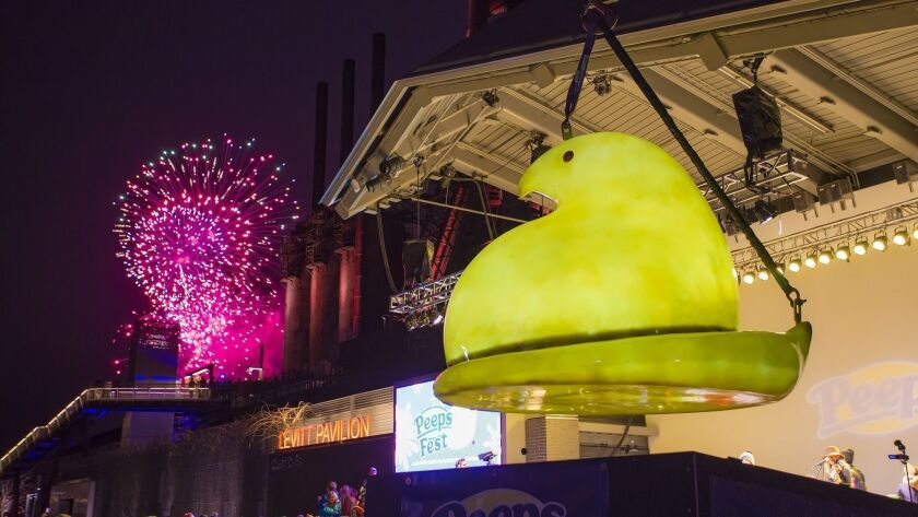The new PEEPS Chick make its debut at the 8th annual PEEPSFEST at SteelStacks on Saturday, Dec. 31,