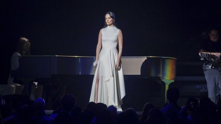 LOS ANGELES, CA - February 10, 2019 kacey musgraves at the 61st GRAMMY Awards at STAPLES Center in L