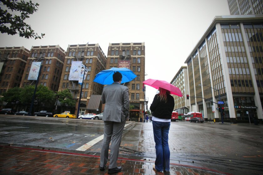 Friday Rain in San Diego