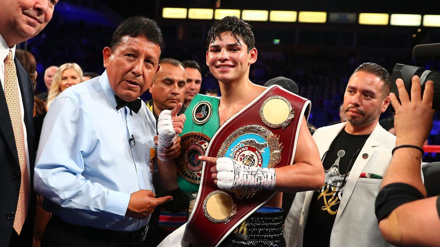 Ryan Garcia Faces Jose Lopez Fight Following Biggest Event Of His Young Life Los Angeles Times