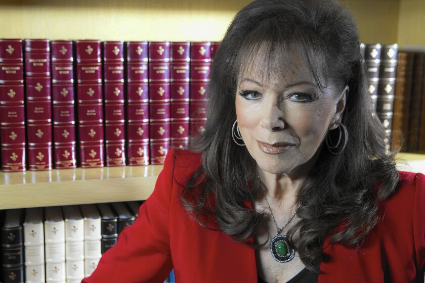 Jackie Collins, best-selling author of sexy Hollywood novels, has died.