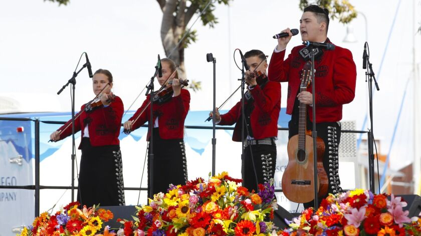 Students from the Mariachi Ambiente group perform during a previous Mariachi Festival. This year's Mariachi Festival is Sunday at Bayside Park in Chula Vista.
