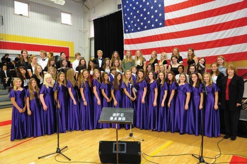 Santa Fe Christian student choirs. Photos by Jon Clark
