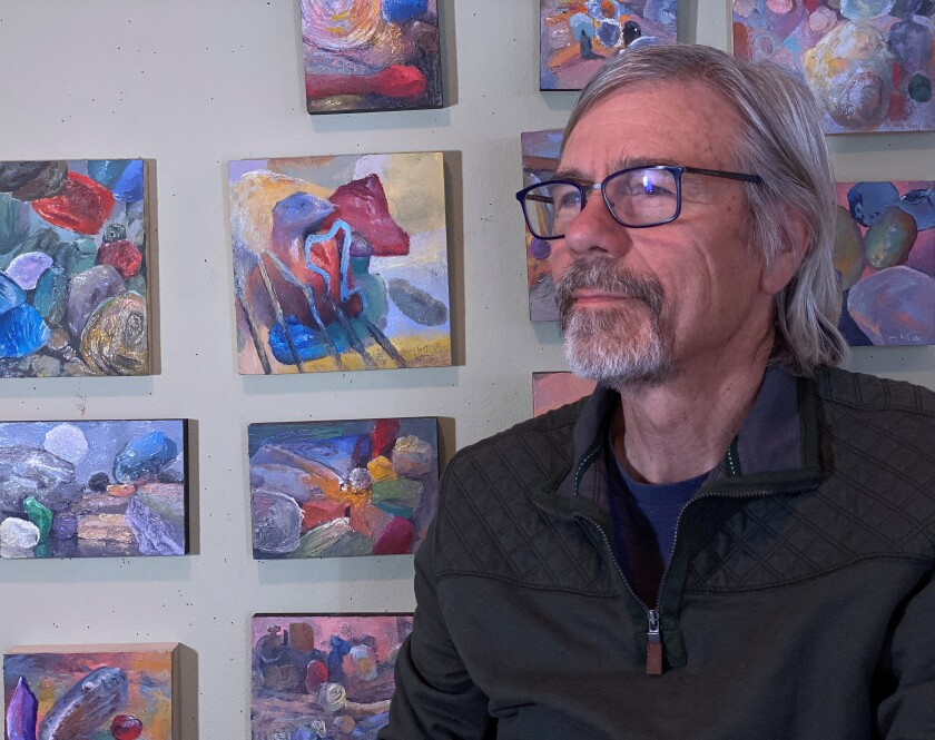 """Larry Groff's """"Through a Grain of Sand, Inventions from the Microscopic Landscape,"""" opens at Santa Ysabel Art Gallery."""