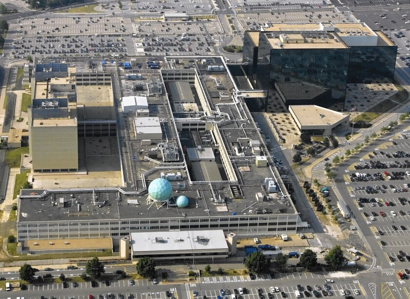 The National Security Agency headquarters at Ft. Meade, Md. Unless the Senate acts to extend the NSA's surveillance program, it will expire late Sunday. The Obama administration is pushing hard to preserve it.