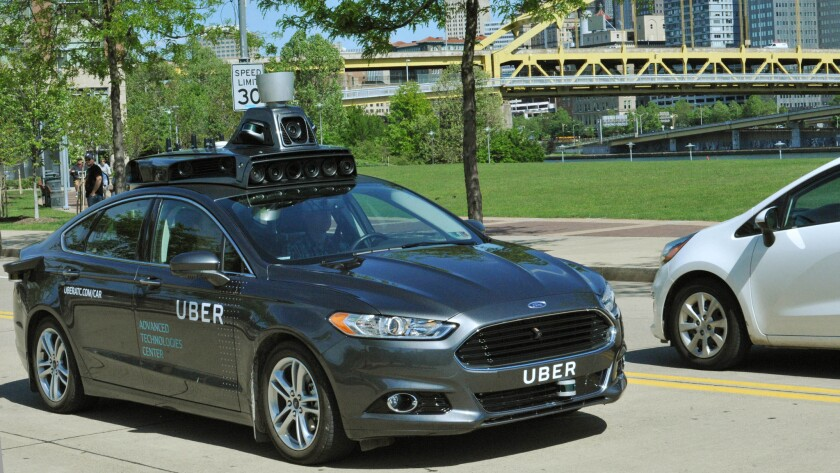 A driverless Uber in Pittsburgh