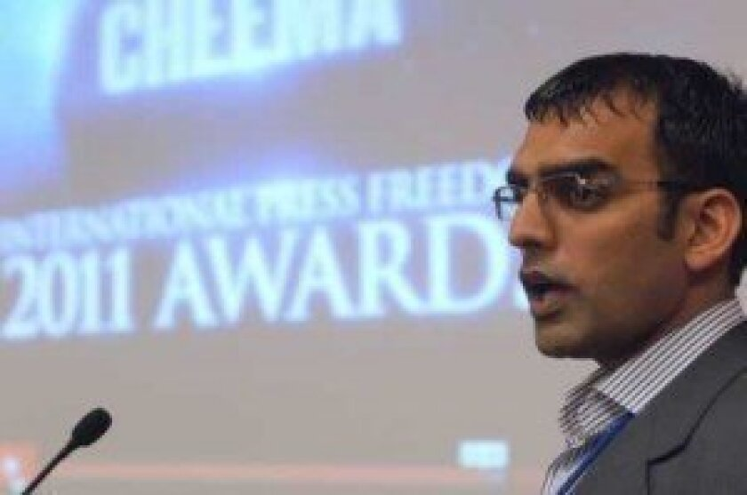 Umar Cheema, a reporter with Islamabad's The News, was abducted and tortured in 2010. By going public about his ordeal, he has brought international attention to anti-press violence in Pakistan.