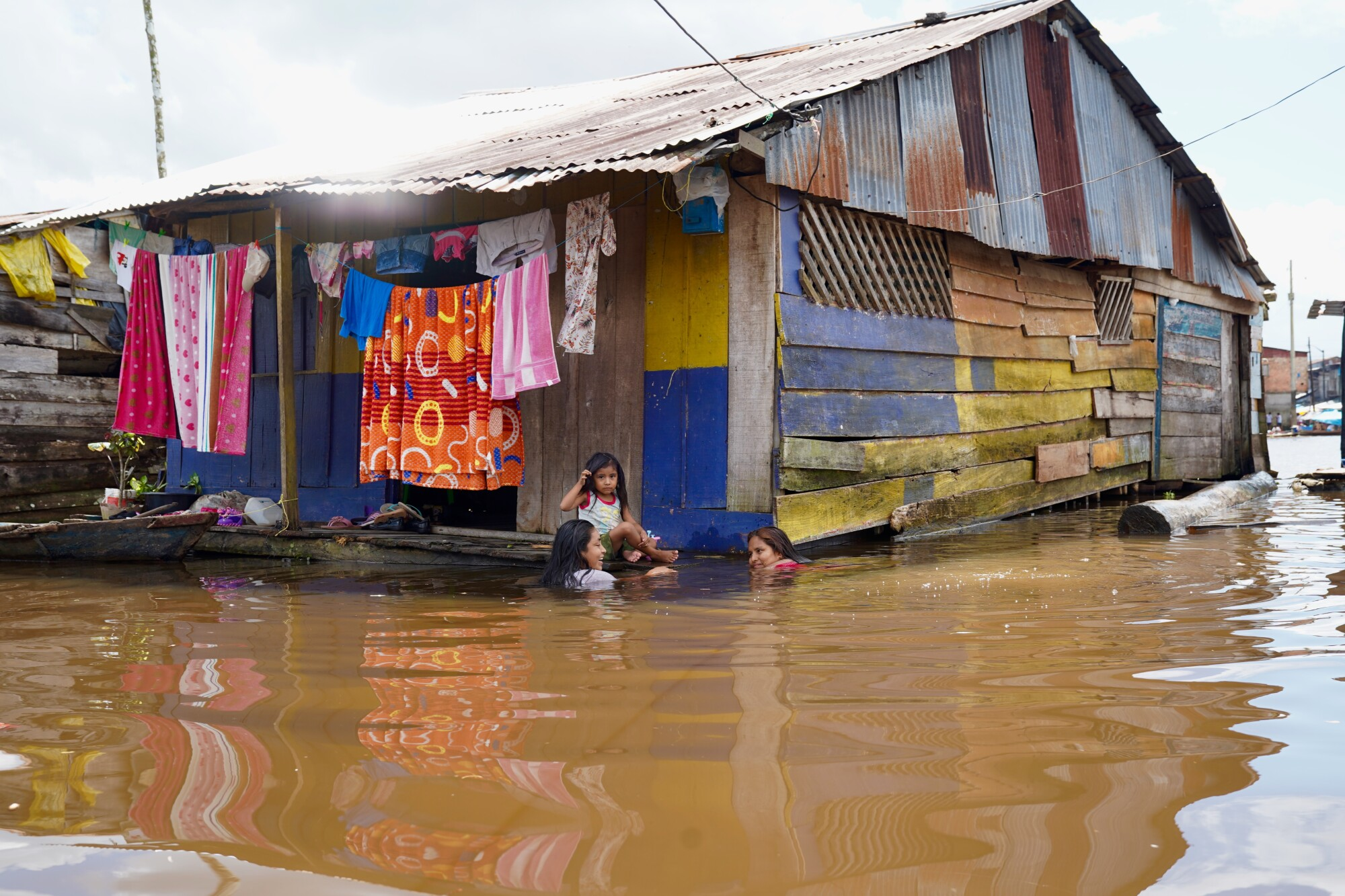 A home in the port district of Belen in Iquitos, Peru.